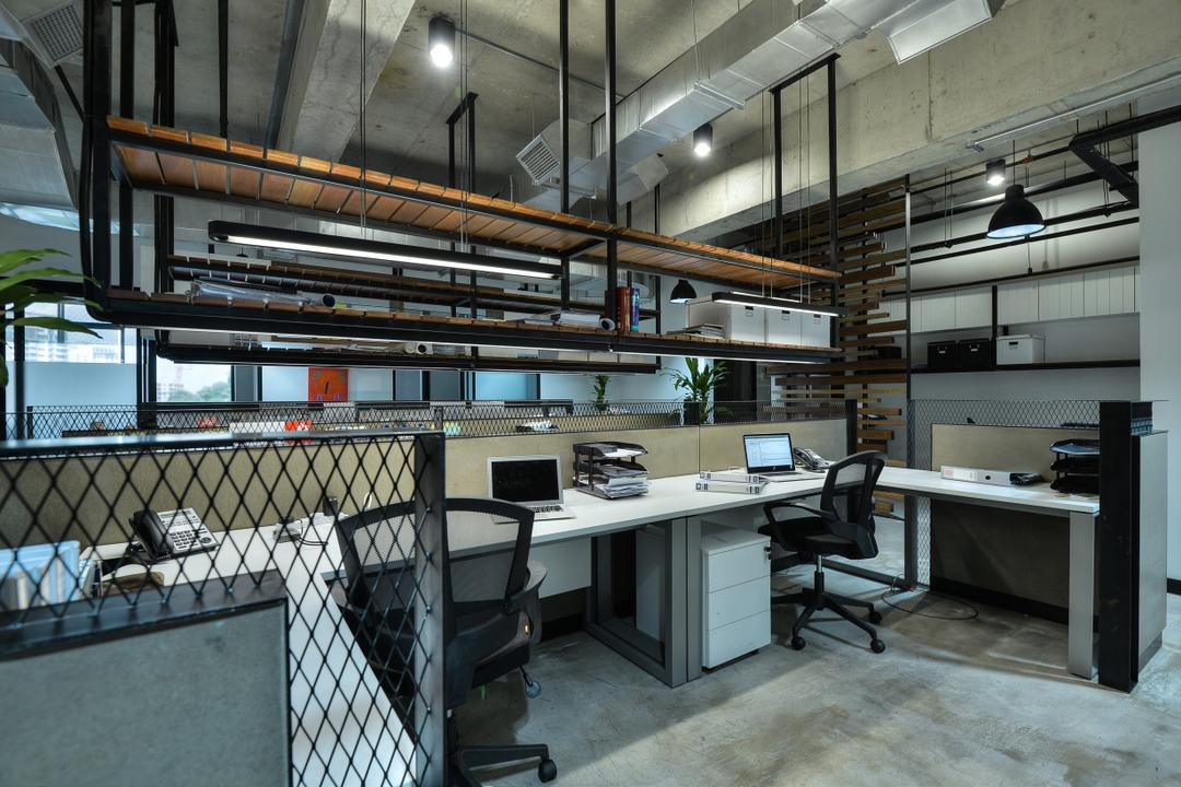 PJ Trade Centre, Damansara Utama, SQFT Space Design Management, Industrial, Minimalistic, Contemporary, Commercial, Workspace, Appliance, Electrical Device, Oven, Chair, Furniture