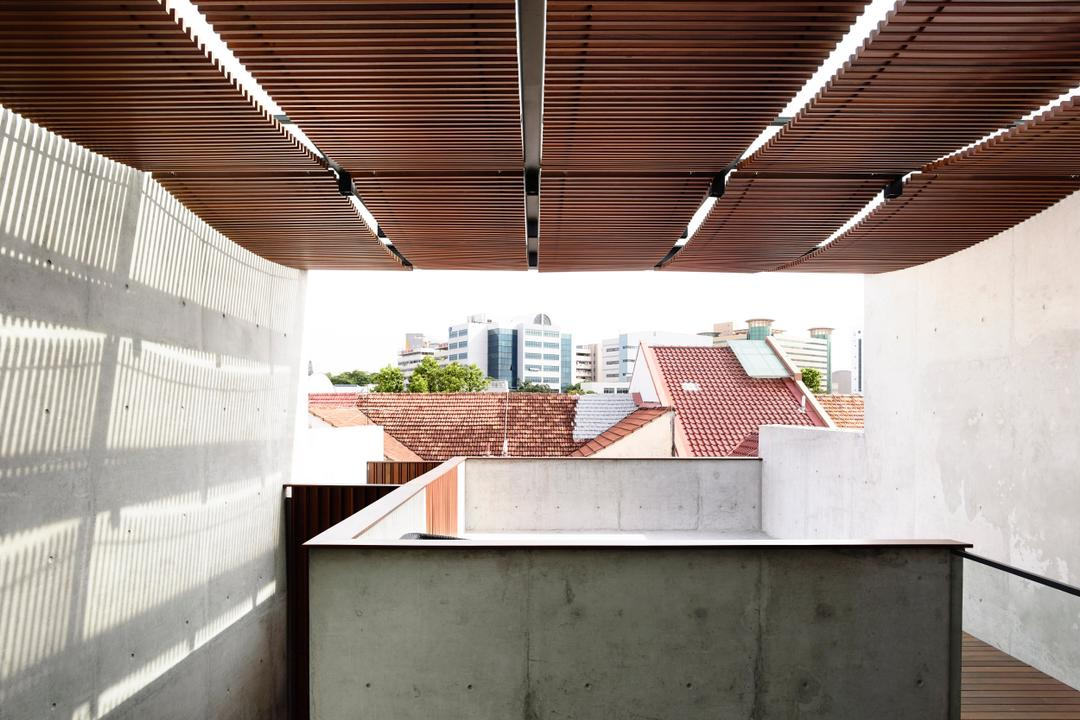 Belimbing Avenue, HYLA Architects, Contemporary, Landed, Roof, Tile Roof, Brick