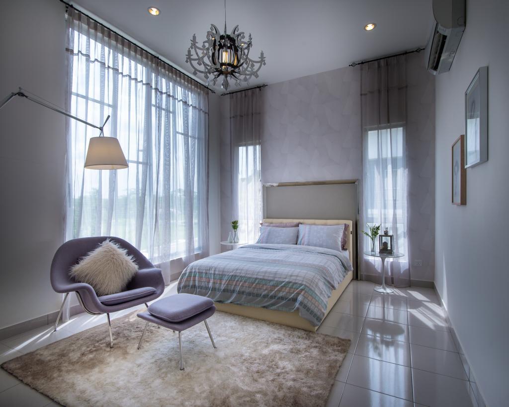 Minimalistic, Landed, Setia Ecohill, Semenyih, Interior Designer, SQFT Space Design Management, Modern, Chair, Furniture, Indoors, Interior Design, Bedroom, Room