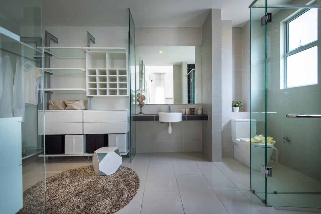 Minimalistic, Landed, Setia Ecohill, Semenyih, Interior Designer, SQFT Space Design Management, Modern, Bathroom, Indoors, Interior Design, Room