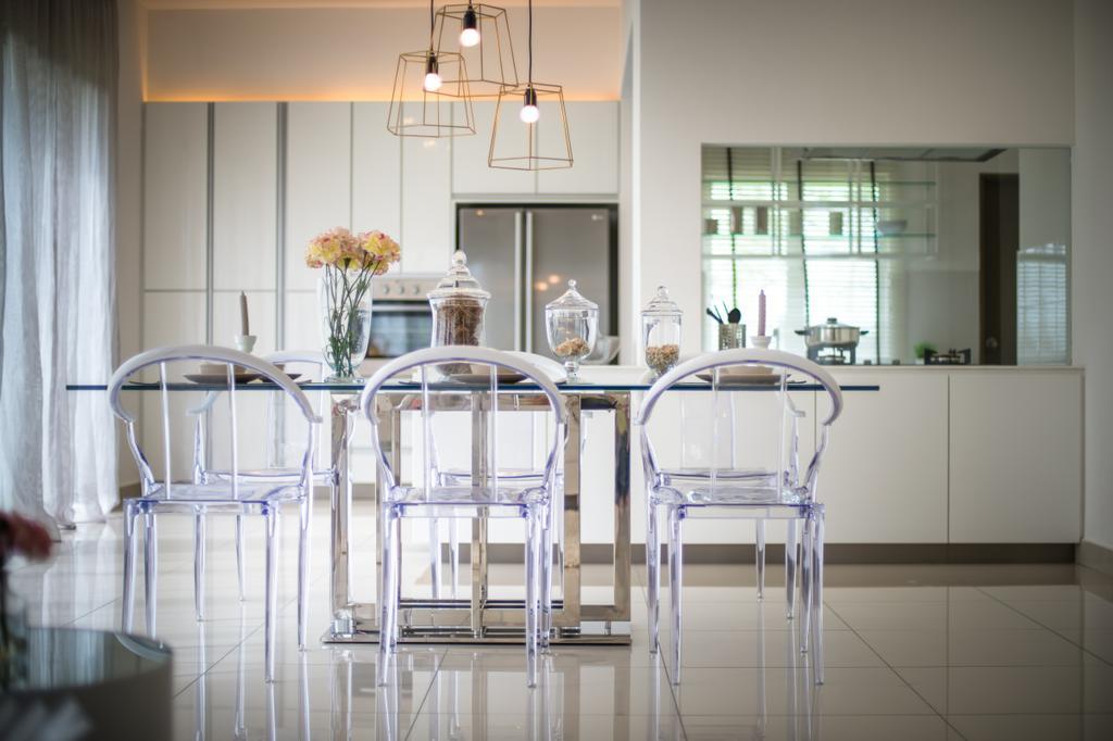 Minimalistic, Landed, Setia Ecohill, Semenyih, Interior Designer, SQFT Space Design Management, Modern, Dining Room, Indoors, Interior Design, Room, Chair, Furniture