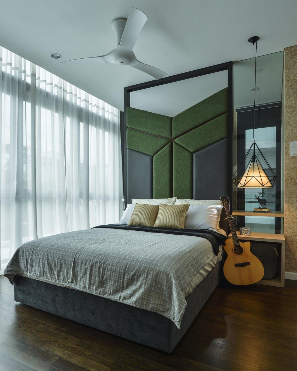 Modern, Landed, Bedroom, Lake Field, Sungai Besi, Interior Designer, SQFT Space Design Management, Contemporary, Leisure Activities, Lute, Mandolin, Music, Musical Instrument
