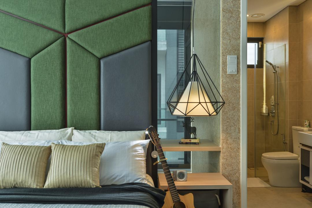 Lake Field, Sungai Besi, SQFT Space Design Management, Modern, Contemporary, Bedroom, Landed, Leisure Activities, Lute, Mandolin, Music, Musical Instrument, Guitar, Triangle, Toilet