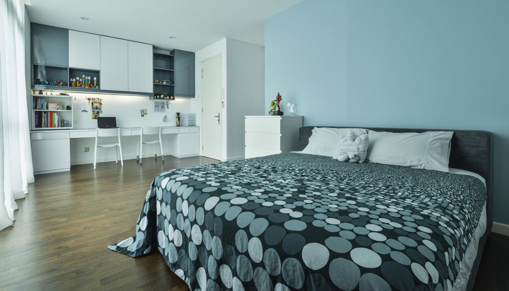 Modern, Landed, Bedroom, Lake Field, Sungai Besi, Interior Designer, SQFT Space Design Management, Contemporary, Indoors, Interior Design, Room, Bed, Furniture