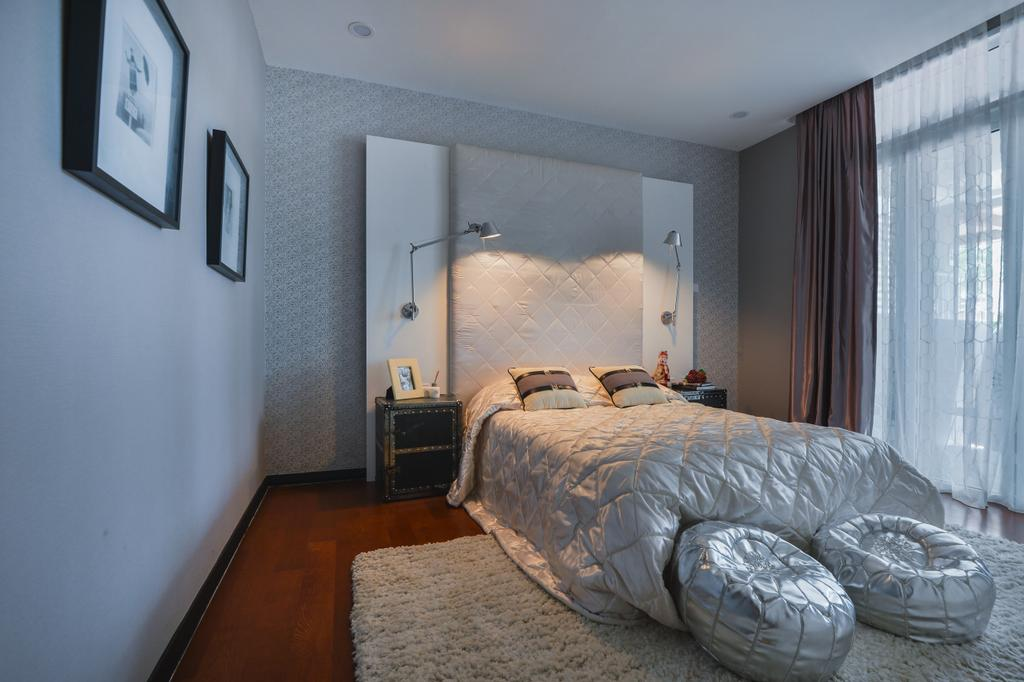 Modern, Landed, Bedroom, The Mews, Putra Heights, Interior Designer, SQFT Space Design Management, Contemporary, Indoors, Interior Design, Room, Bed, Furniture, Flooring