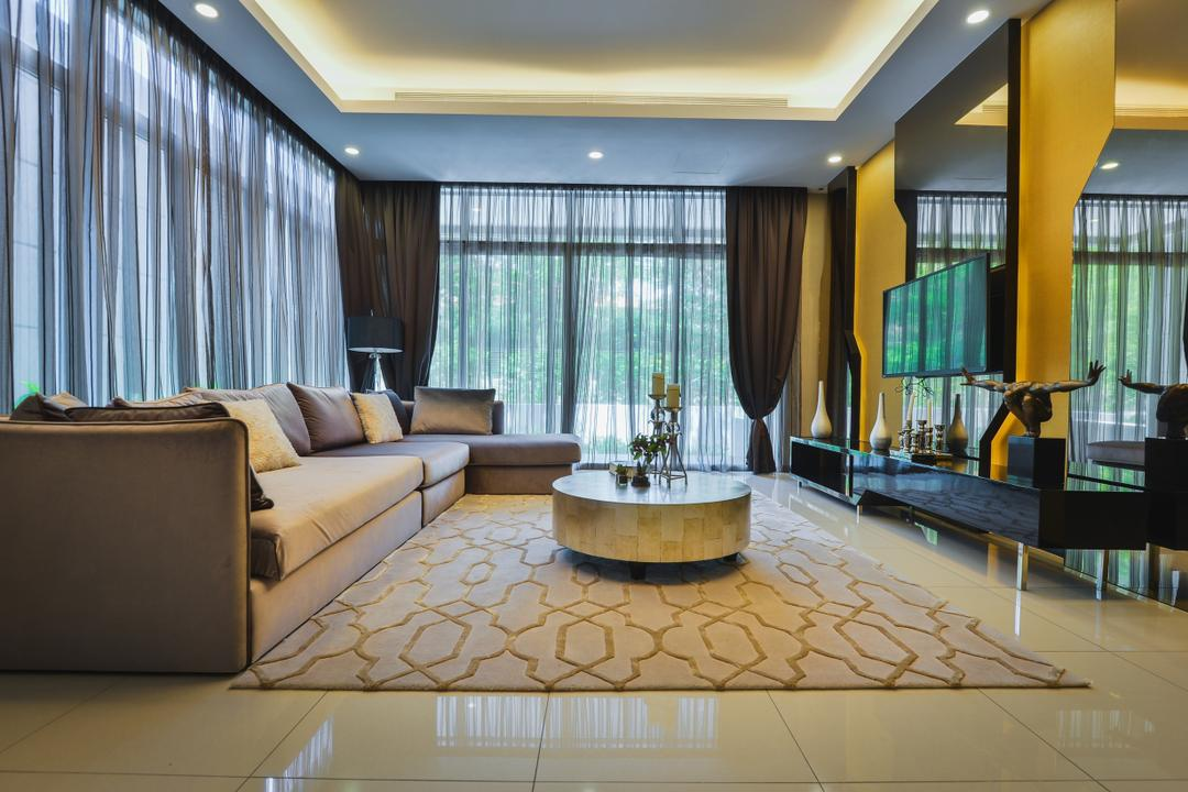 The Mews, Putra Heights, SQFT Space Design Management, Modern, Contemporary, Landed, Flooring, Tub, Couch, Furniture, Indoors, Room