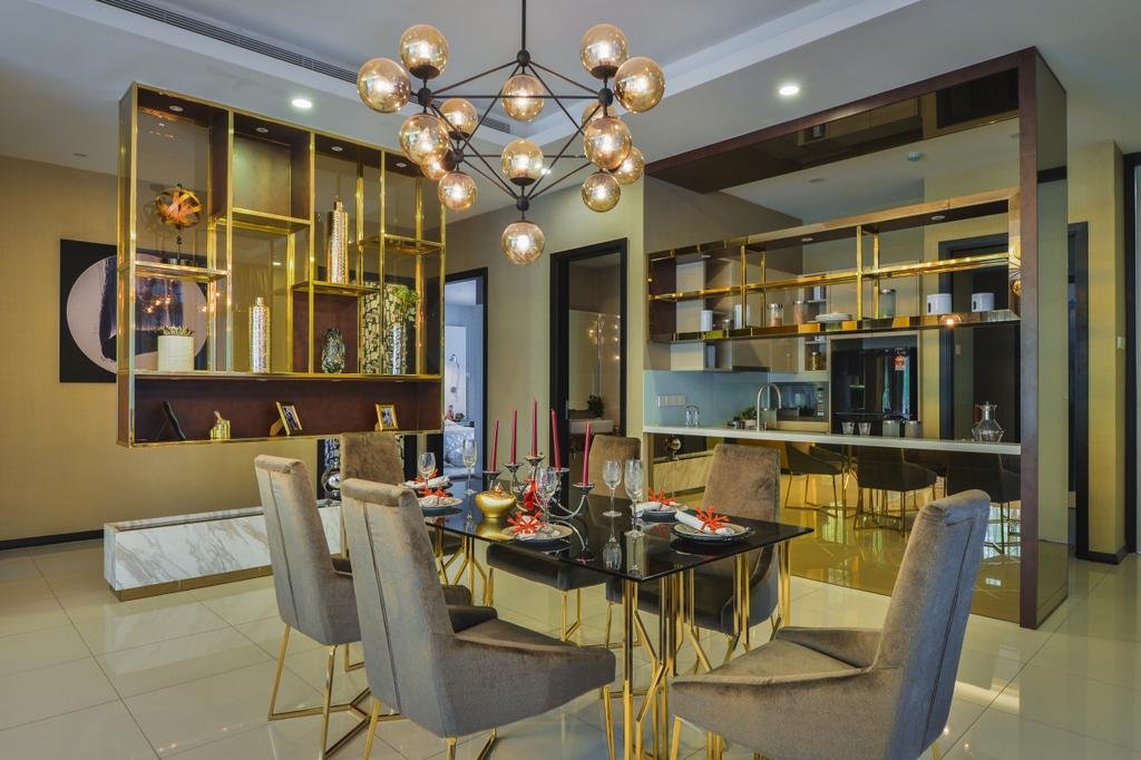 Modern, Landed, Dining Room, The Mews, Putra Heights, Interior Designer, SQFT Space Design Management, Contemporary, Indoors, Interior Design, Room, Chair, Furniture