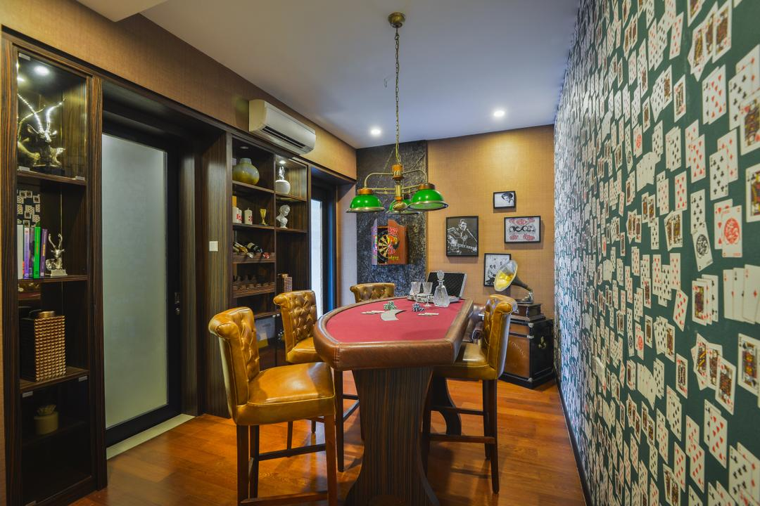 The Mews, Putra Heights, SQFT Space Design Management, Modern, Contemporary, Dining Room, Landed, Chair, Furniture, Billiard Room, Indoors, Room, Interior Design