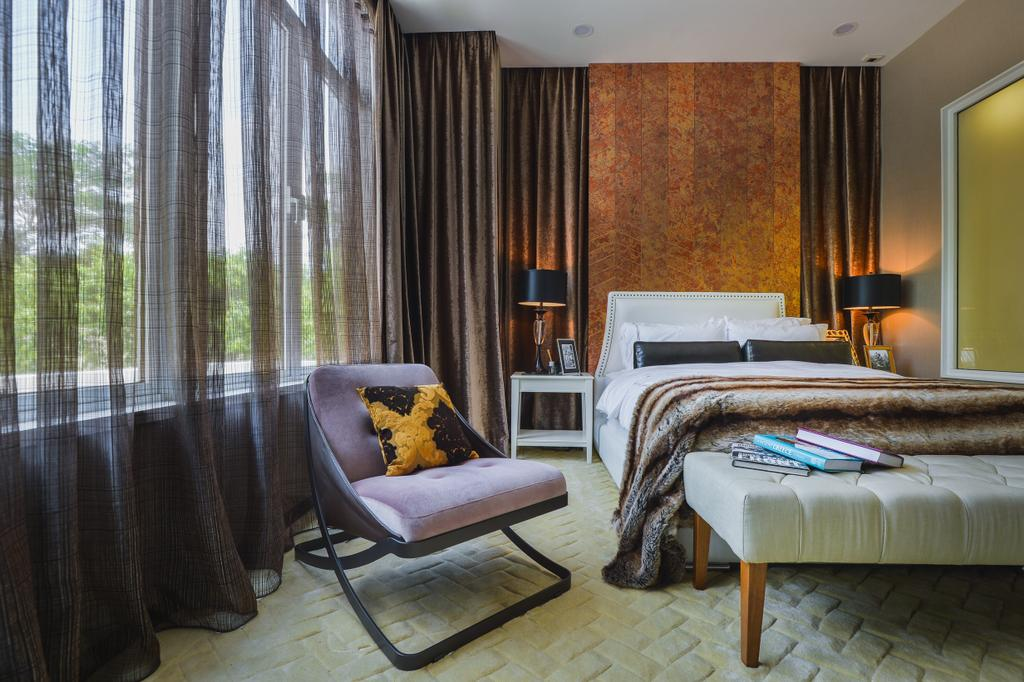 Modern, Landed, Bedroom, The Mews, Putra Heights, Interior Designer, SQFT Space Design Management, Contemporary, Chair, Furniture