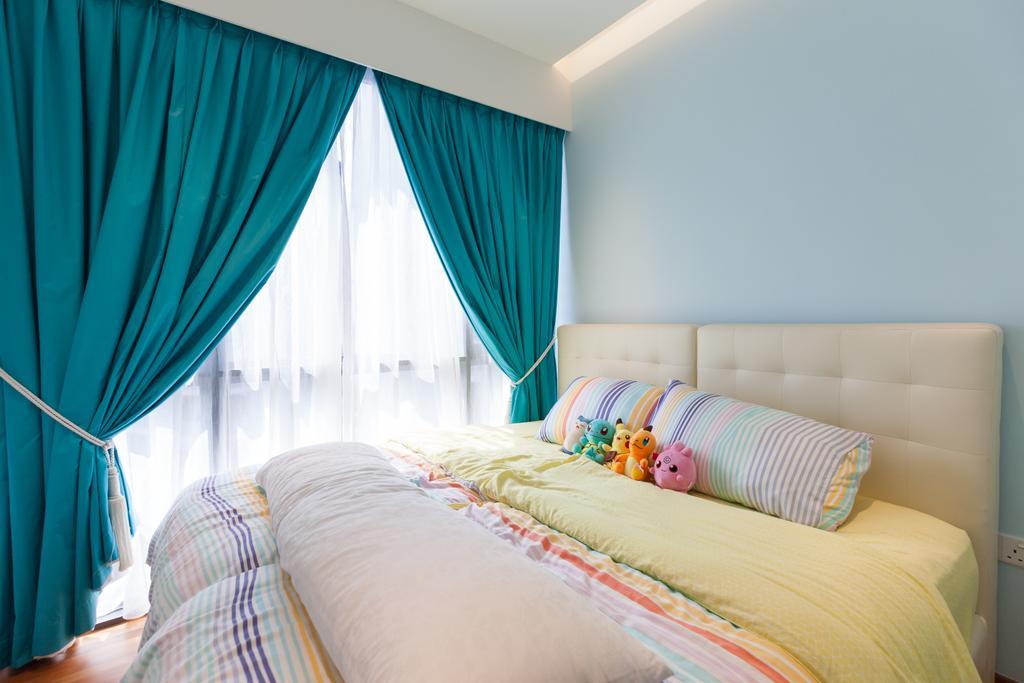Modern, Condo, Bedroom, Parc Centros, Interior Designer, Space Atelier, Indoors, Interior Design, Room