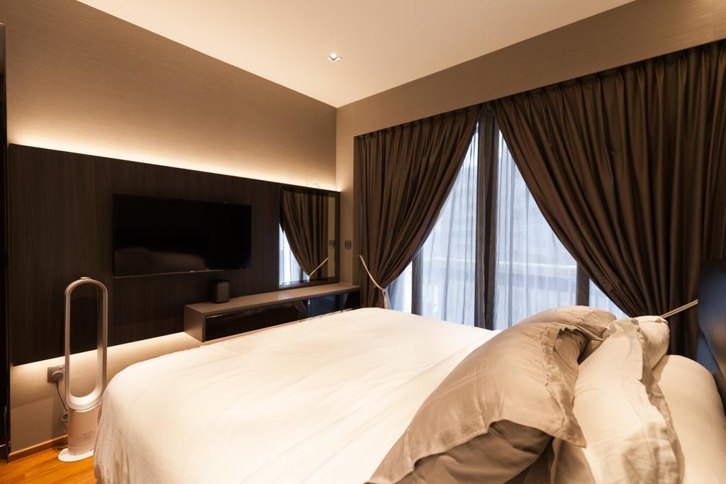 Modern, Condo, Bedroom, Parc Centros, Interior Designer, Space Atelier, Bed, Furniture, Indoors, Room, Interior Design