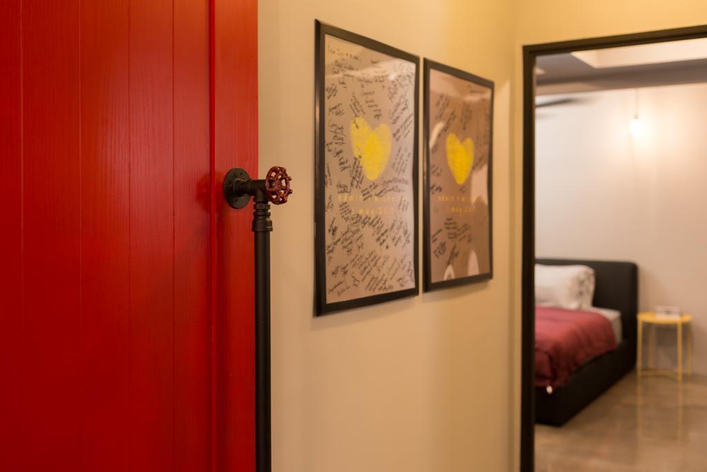 Industrial, HDB, Bedroom, McNair Road, Interior Designer, Dap Atelier, Door, Sliding Door, Indoors, Interior Design, Room