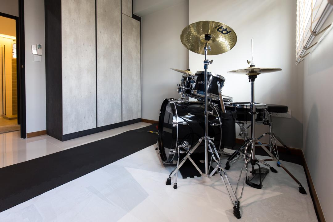 Canberra Street, Chapter One Interior Design, Industrial, HDB, Drum, Leisure Activities, Music, Musical Instrument, Percussion
