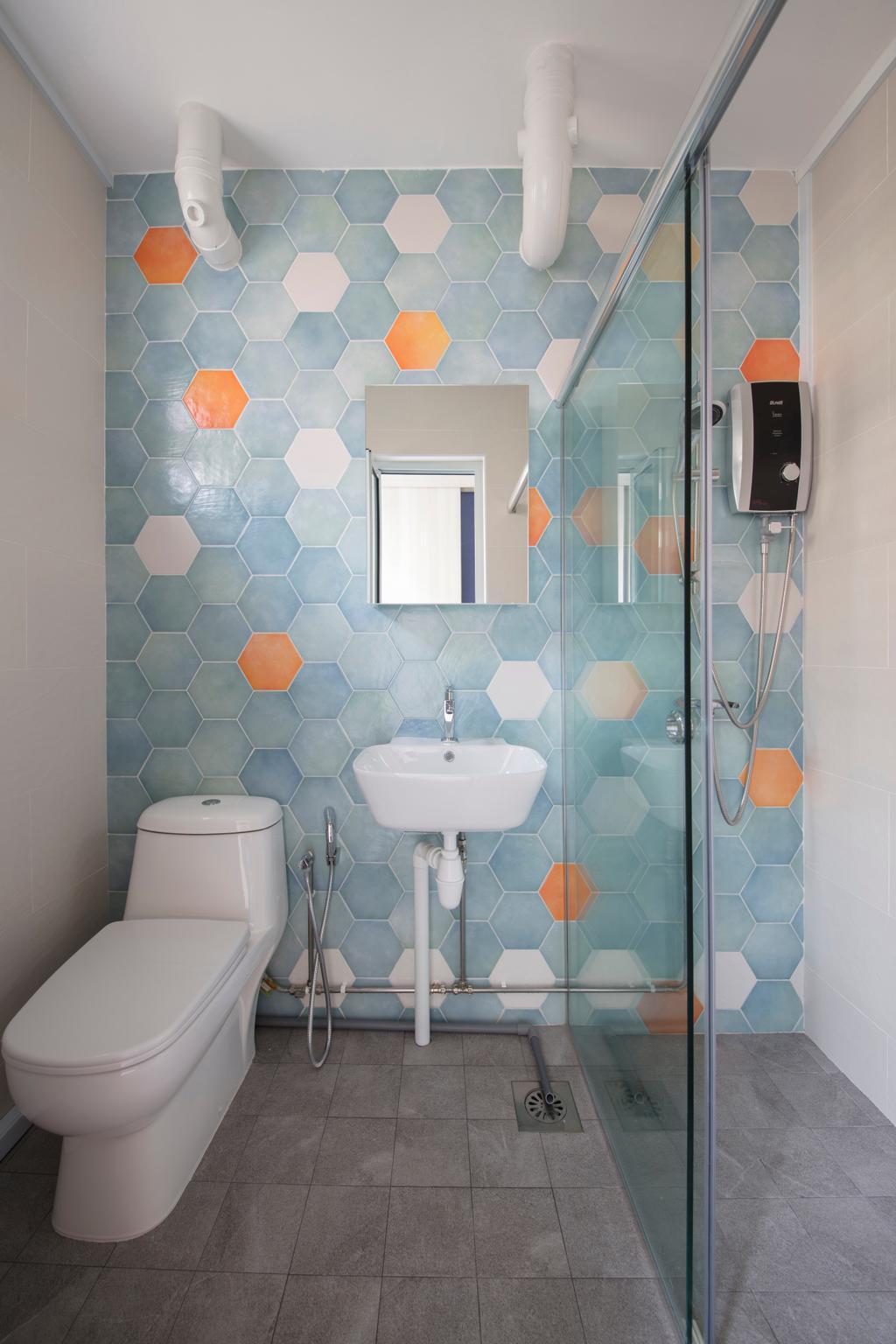 Contemporary, HDB, Bathroom, Tampines Avenue 9, Interior Designer, Boon Siew D'sign, Indoors, Interior Design, Room