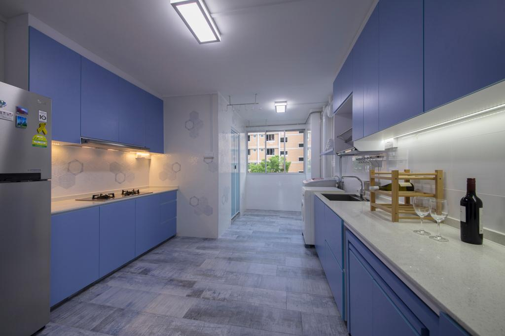 Contemporary, HDB, Kitchen, Tampines Avenue 9, Interior Designer, Boon Siew D'sign, Indoors, Interior Design
