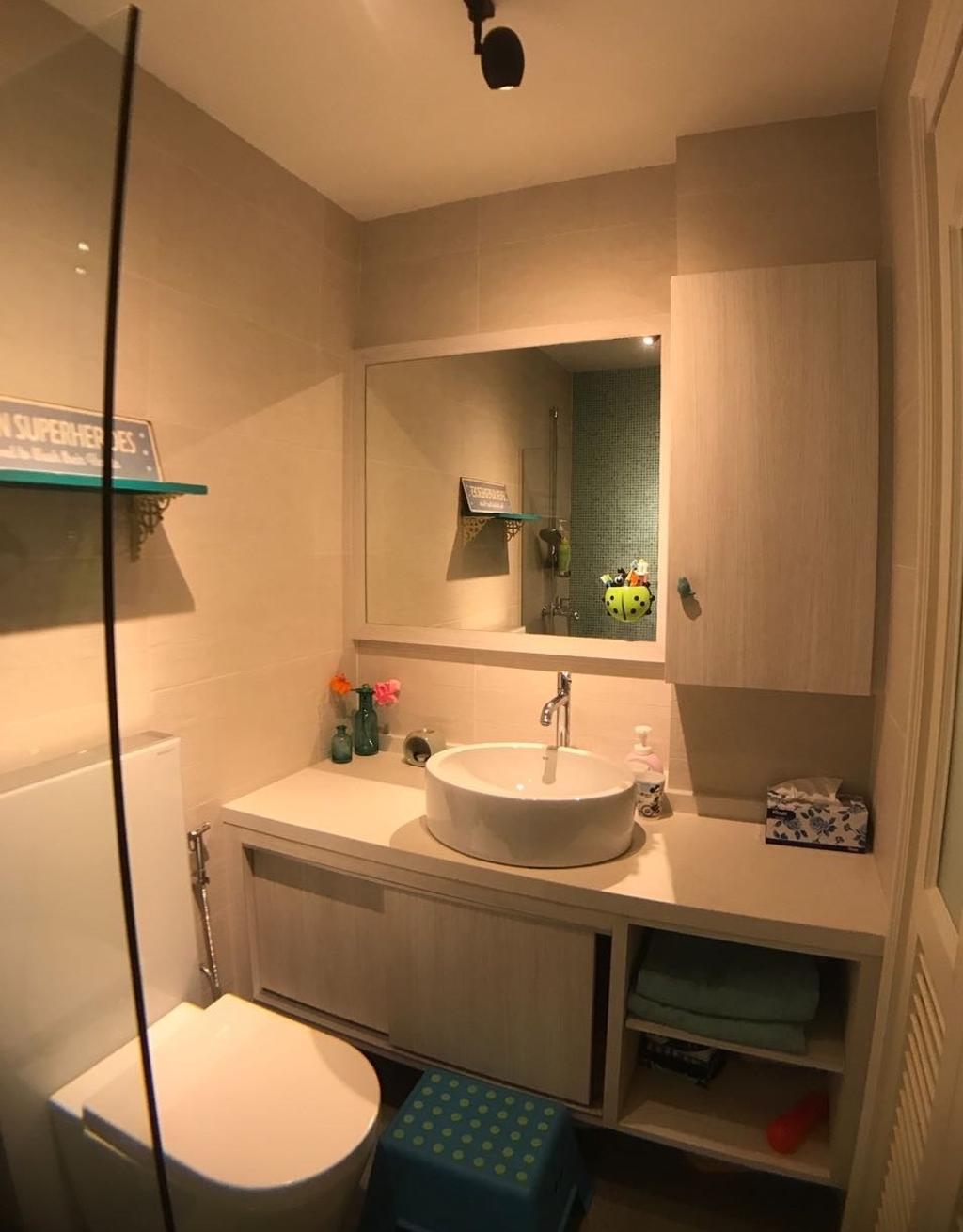 Vintage, Condo, Bathroom, Serenity Park, Interior Designer, ISH Interior Design, Indoors, Interior Design, Room