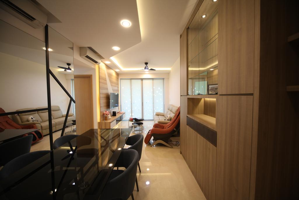 Modern, Condo, Dining Room, The Glades, Interior Designer, Interior Diary, Chair, Furniture, Couch, Building, Hostel, Housing, HDB, Indoors, Interior Design, Room