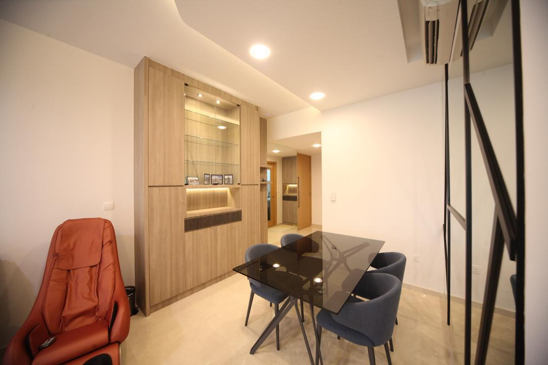 The Glades, Interior Diary, Modern, Dining Room, Condo, Dining Table, Furniture, Table, Chair, HDB, Building, Housing, Indoors, Railing, Room