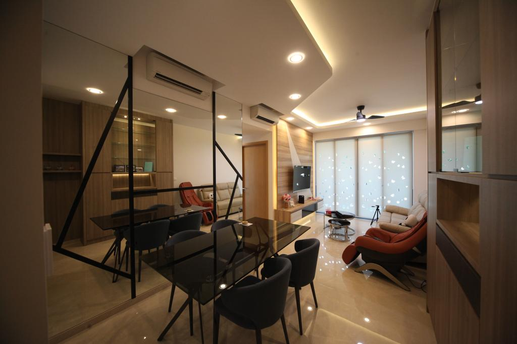 Modern, Condo, Dining Room, The Glades, Interior Designer, Interior Diary, Chair, Furniture, HDB, Building, Housing, Indoors, Loft