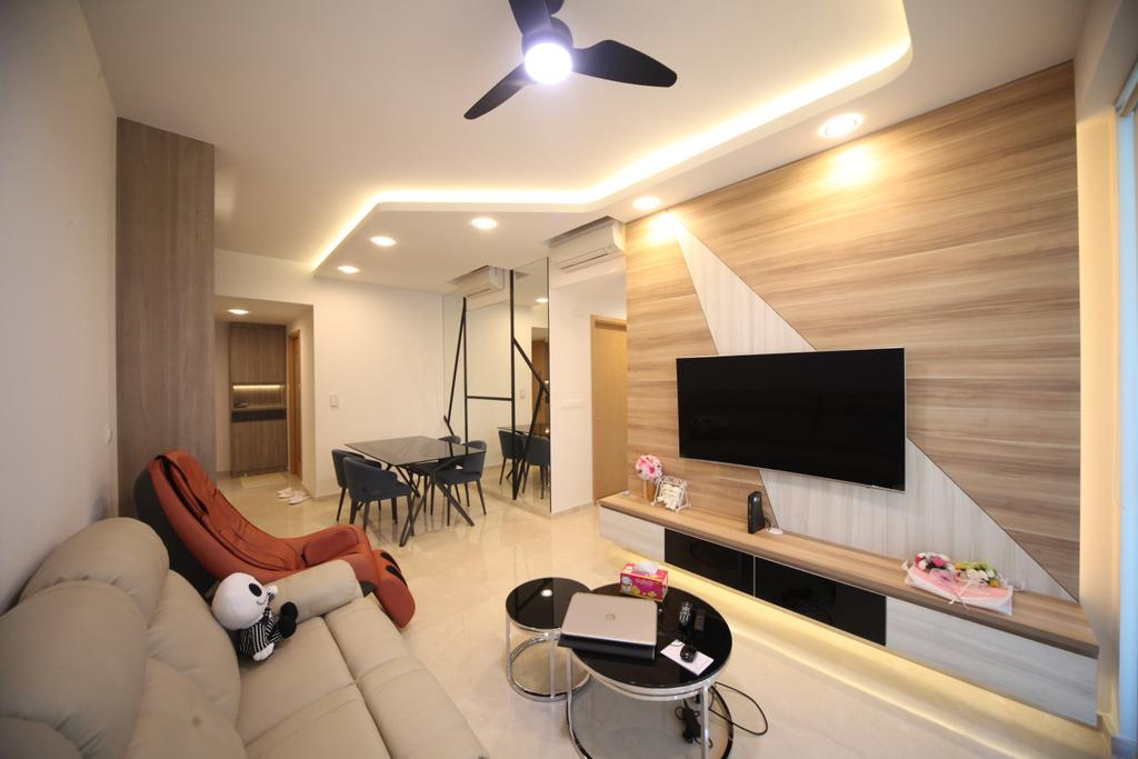 Modern, Condo, Living Room, The Glades, Interior Designer, Interior Diary, Propeller, HDB, Building, Housing, Indoors
