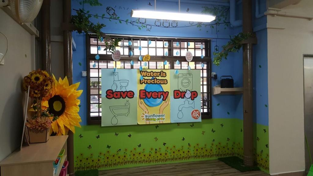 Sunflower Kindergarten, Commercial, Interior Designer, Interior Diary, Minimalistic, Flora, Jar, Plant, Potted Plant, Pottery, Vase, Blossom, Flower, Sunflower, Kiosk