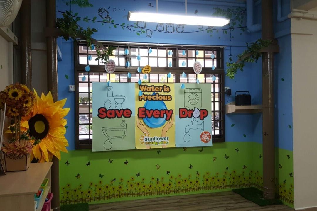 Sunflower Kindergarten, Interior Diary, Minimalistic, Commercial, Flora, Jar, Plant, Potted Plant, Pottery, Vase, Blossom, Flower, Sunflower, Kiosk
