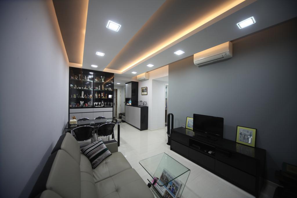 Modern, Condo, Living Room, Riversound Residences, Interior Designer, Interior Diary, Lighting, Basement, Indoors, Room