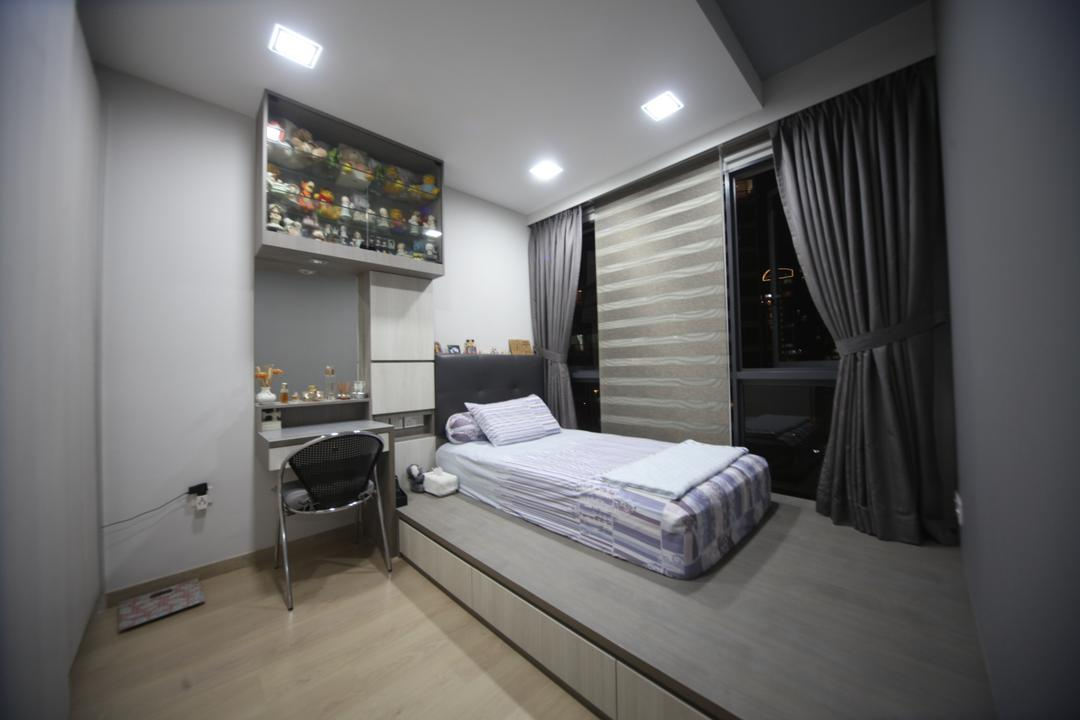 Riversound Residences, Interior Diary, Modern, Dining Room, Condo, Curtain, Home Decor, Bedroom, Indoors, Interior Design, Room, Appliance, Electrical Device, Oven, Bed, Furniture, Alcohol, Beverage, Drink, Liquor