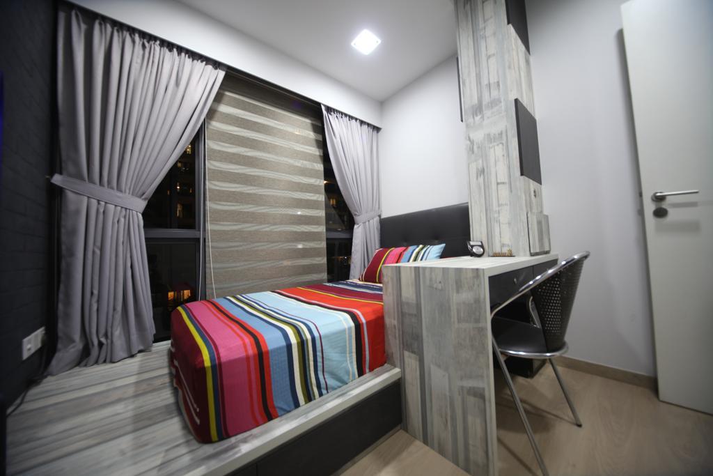 Modern, Condo, Bedroom, Riversound Residences, Interior Designer, Interior Diary, Chair, Furniture, Indoors, Interior Design, Room, HDB, Building, Housing