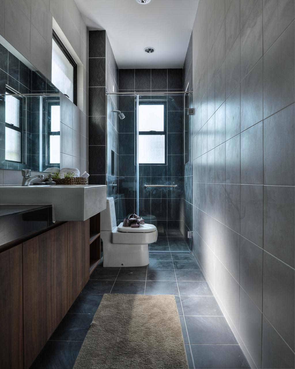 Modern, Landed, Bathroom, Hulu Langat, Interior Designer, SQFT Space Design Management, Contemporary, Indoors, Interior Design, Room, Toilet