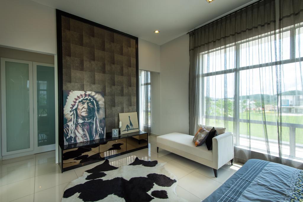 Modern, Landed, Bedroom, Semenyih, Interior Designer, SQFT Space Design Management, Contemporary, Indoors, Interior Design
