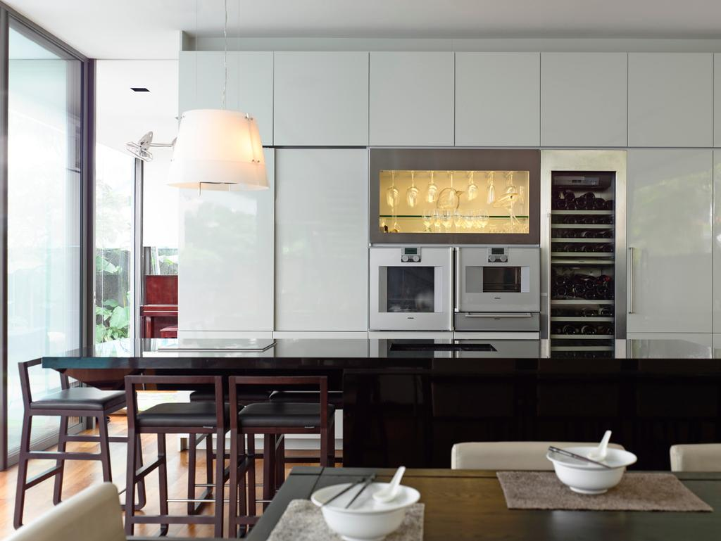 Contemporary, Landed, Kitchen, Princess of Wales, Architect, HYLA Architects, Dining Table, Furniture, Table, Appliance, Electrical Device, Oven, Dining Room, Indoors, Interior Design, Room, Chair