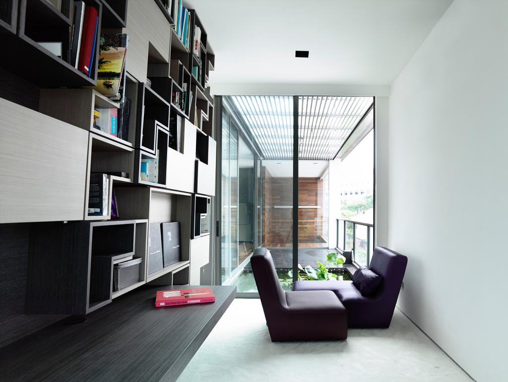 Contemporary, Landed, Princess of Wales, Architect, HYLA Architects, Flora, Jar, Plant, Potted Plant, Pottery, Vase, Shelf, Chair, Furniture, HDB, Building, Housing, Indoors, Loft