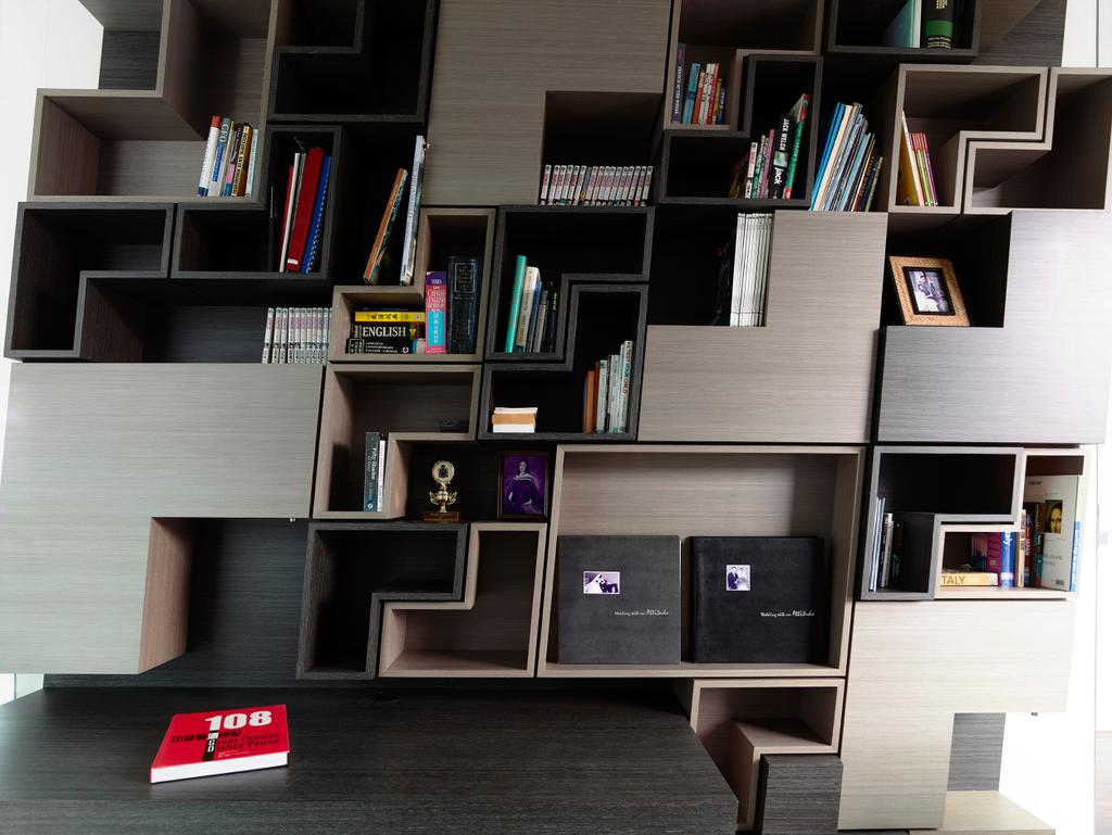 Contemporary, Landed, Princess of Wales, Architect, HYLA Architects, Shelf, Bookcase, Furniture, Appliance, Electrical Device, Microwave, Oven