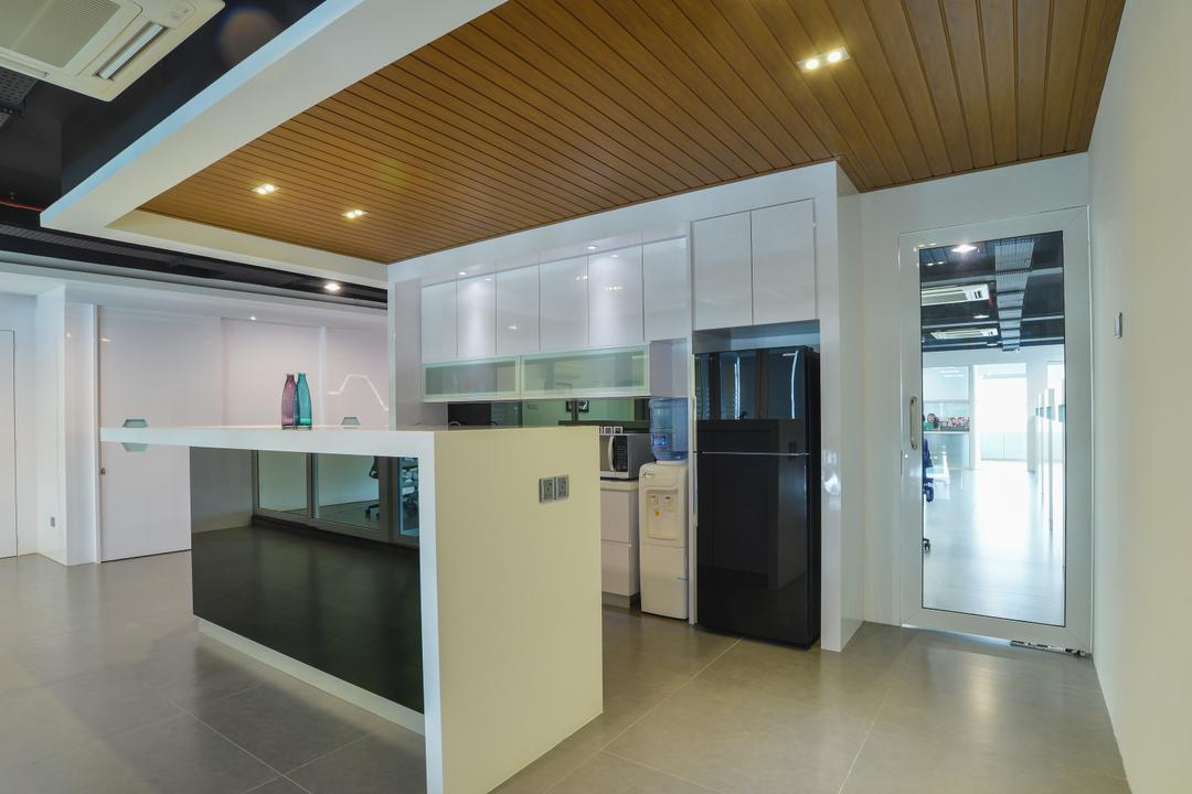 Oasis Damansara, SQFT Space Design Management, Modern, Minimalistic, Contemporary, Commercial, Appliance, Electrical Device, Fridge, Refrigerator, Corridor