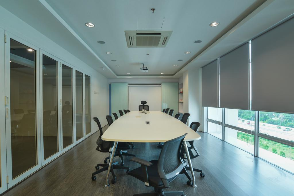 Oasis Damansara, Commercial, Interior Designer, SQFT Space Design Management, Modern, Minimalistic, Contemporary, Conference Room, Indoors, Meeting Room, Room, Dining Table, Furniture, Table