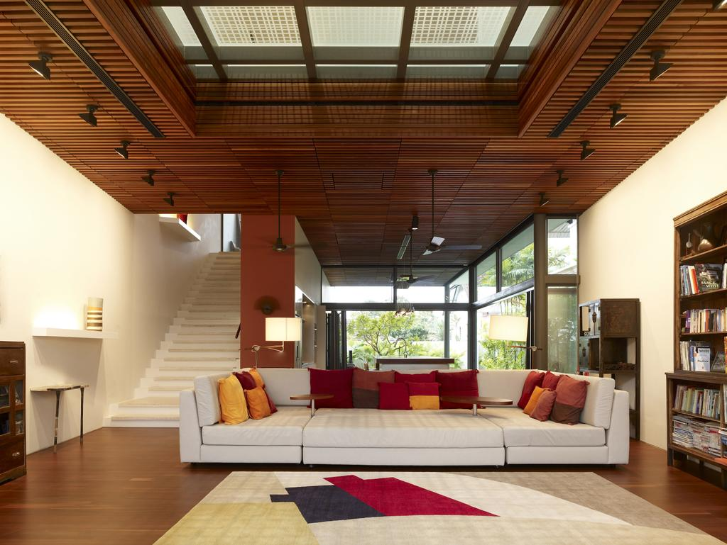 Contemporary, Landed, Living Room, Crowhurst Drive, Architect, HYLA Architects, Couch, Furniture, Indoors, Room