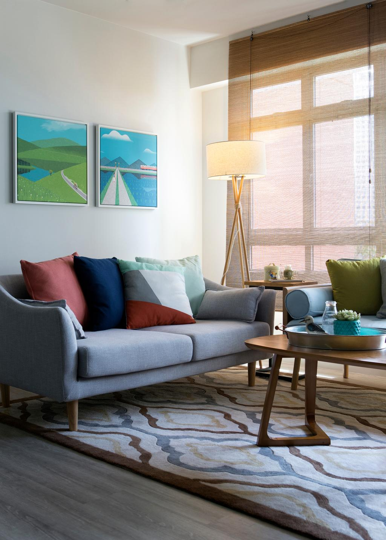 Scandinavian, HDB, Living Room, Kim Tian Road (Block 126A), Interior Designer, Boon Siew D'sign, Couch, Furniture, Chair, Indoors, Interior Design, Room