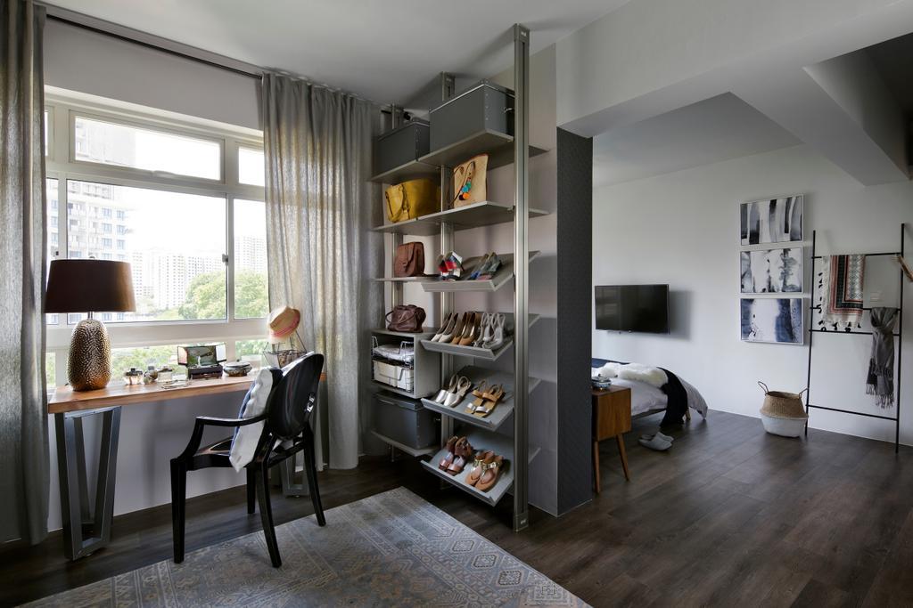 Scandinavian, HDB, Study, Kim Tian Road (Block 126A), Interior Designer, Boon Siew D'sign, Dining Table, Furniture, Table, Dining Room, Indoors, Interior Design, Room, Chair
