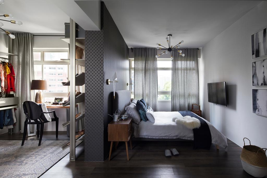Scandinavian, HDB, Bedroom, Kim Tian Road (Block 126A), Interior Designer, Boon Siew D'sign, Couch, Furniture, Dining Table, Table