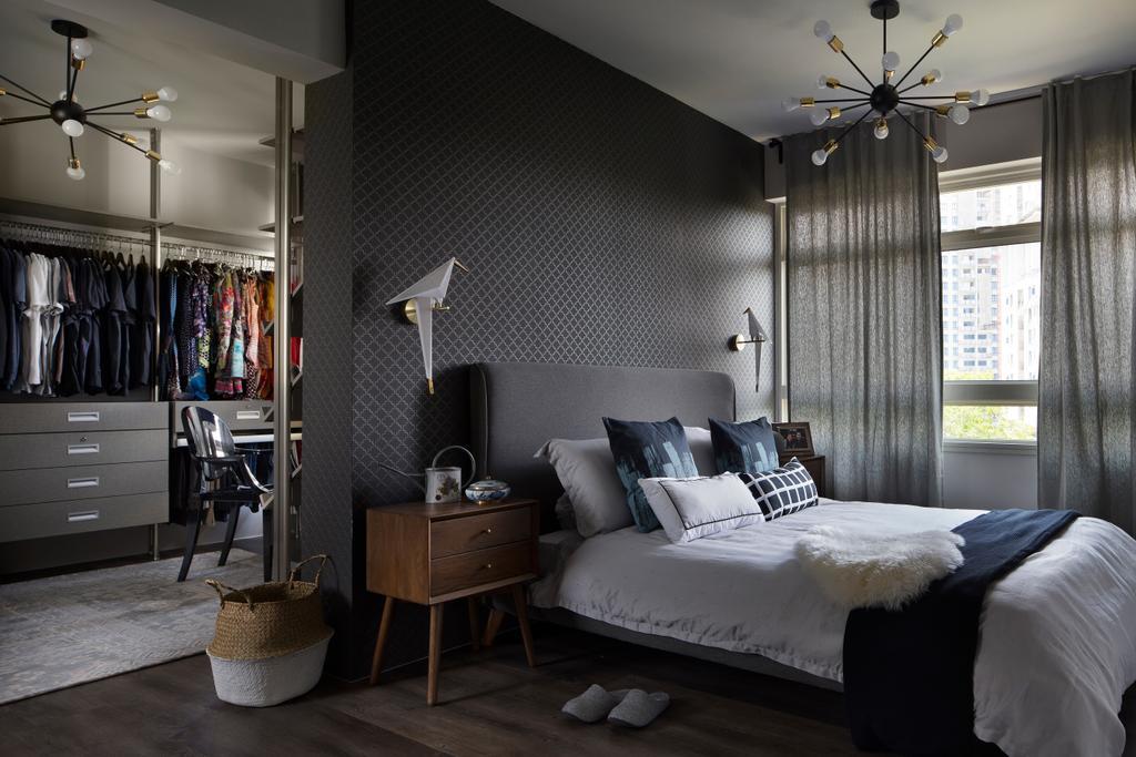 Scandinavian, HDB, Bedroom, Kim Tian Road (Block 126A), Interior Designer, Boon Siew D'sign, Indoors, Interior Design, Room