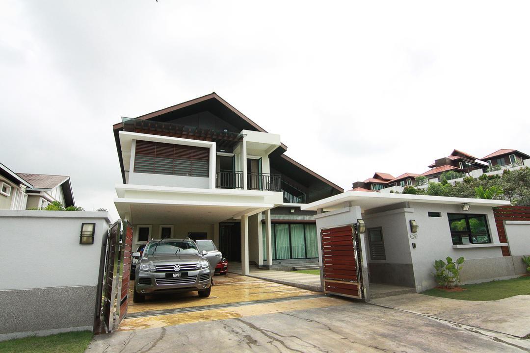 Forte, Bukit Jelutong, EA Alam Reka, Contemporary, Eclectic, Minimalist, Landed, Building, House, Housing, Villa, Automobile, Car, Suv, Transportation, Vehicle, Neighborhood, Urban, Siding