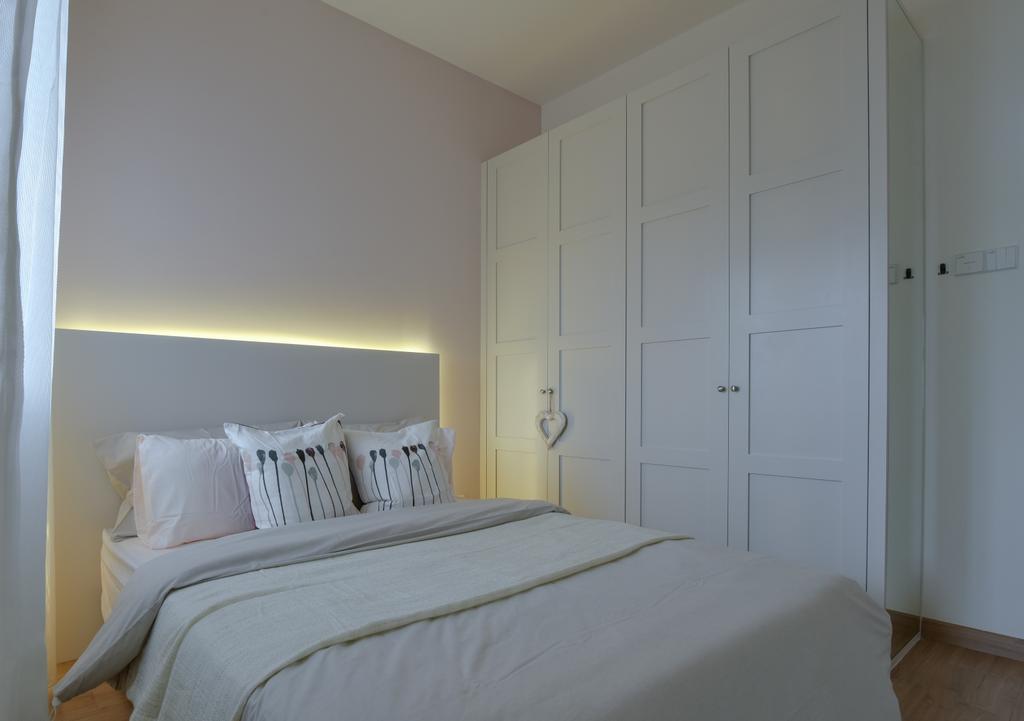Scandinavian, Landed, Bedroom, Bandar Ainsdale, Interior Designer, SQFT Space Design Management, Bed, Furniture, Indoors, Interior Design, Room