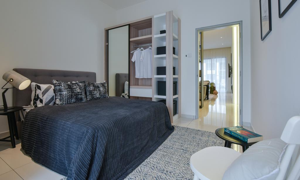 Scandinavian, Landed, Bedroom, Bandar Ainsdale, Interior Designer, SQFT Space Design Management, Indoors, Interior Design, Room