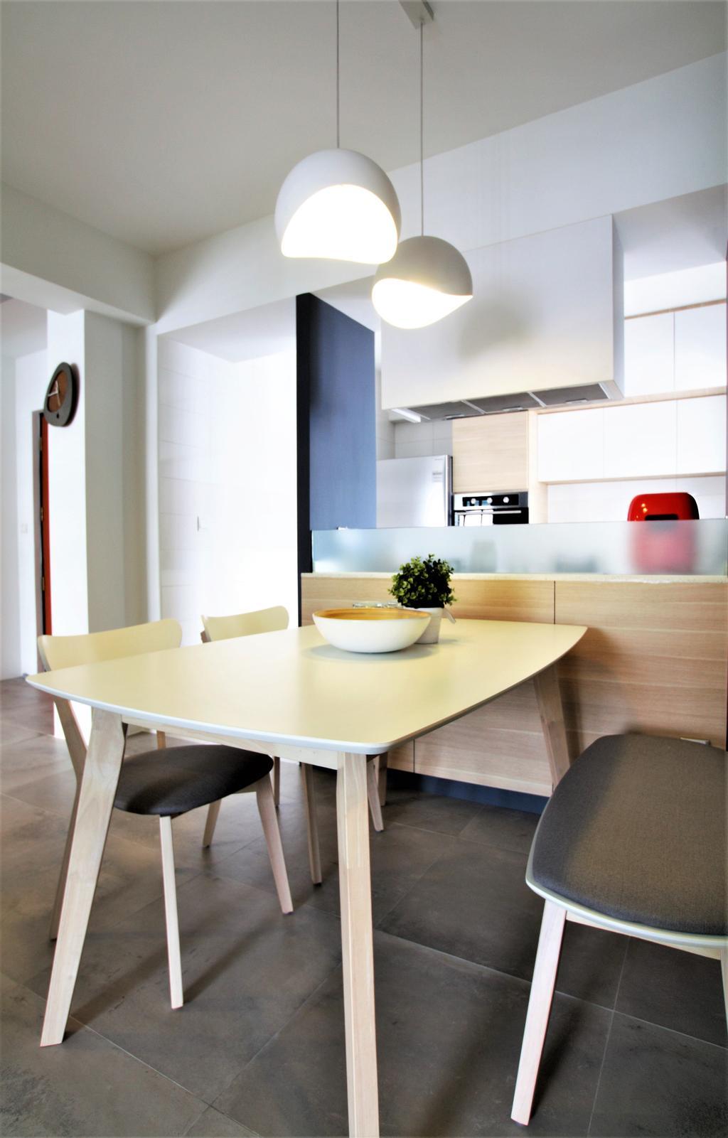 Modern, HDB, Choa Chu Kang, Interior Designer, Intrigue-d Design Consultancy, Dining Table, Furniture, Table, Dining Room, Indoors, Interior Design, Room