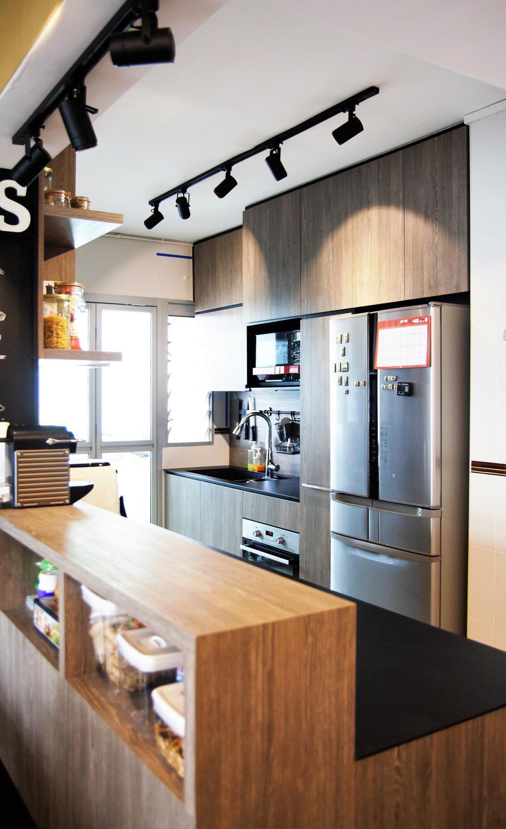 HDB, Punggol, Interior Designer, Intrigue-d Design Consultancy, Appliance, Electrical Device, Fridge, Refrigerator