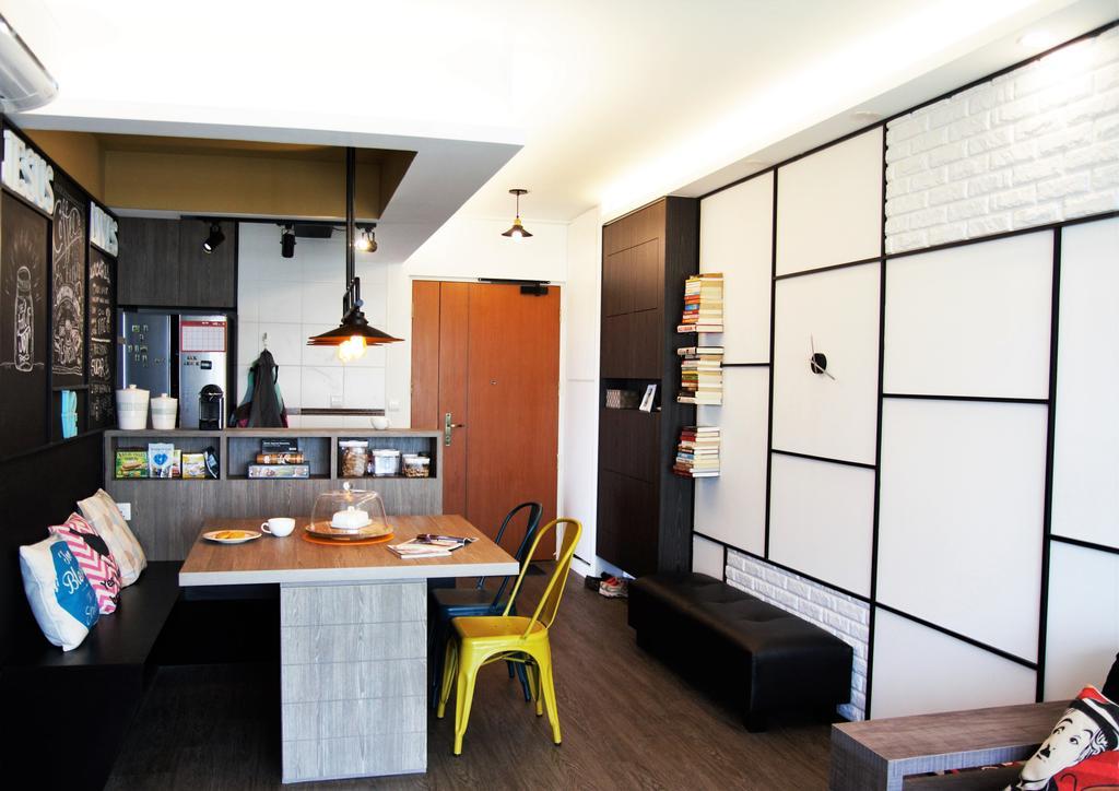 HDB, Punggol, Interior Designer, Intrigue-d Design Consultancy, Building, Housing, Indoors, Loft