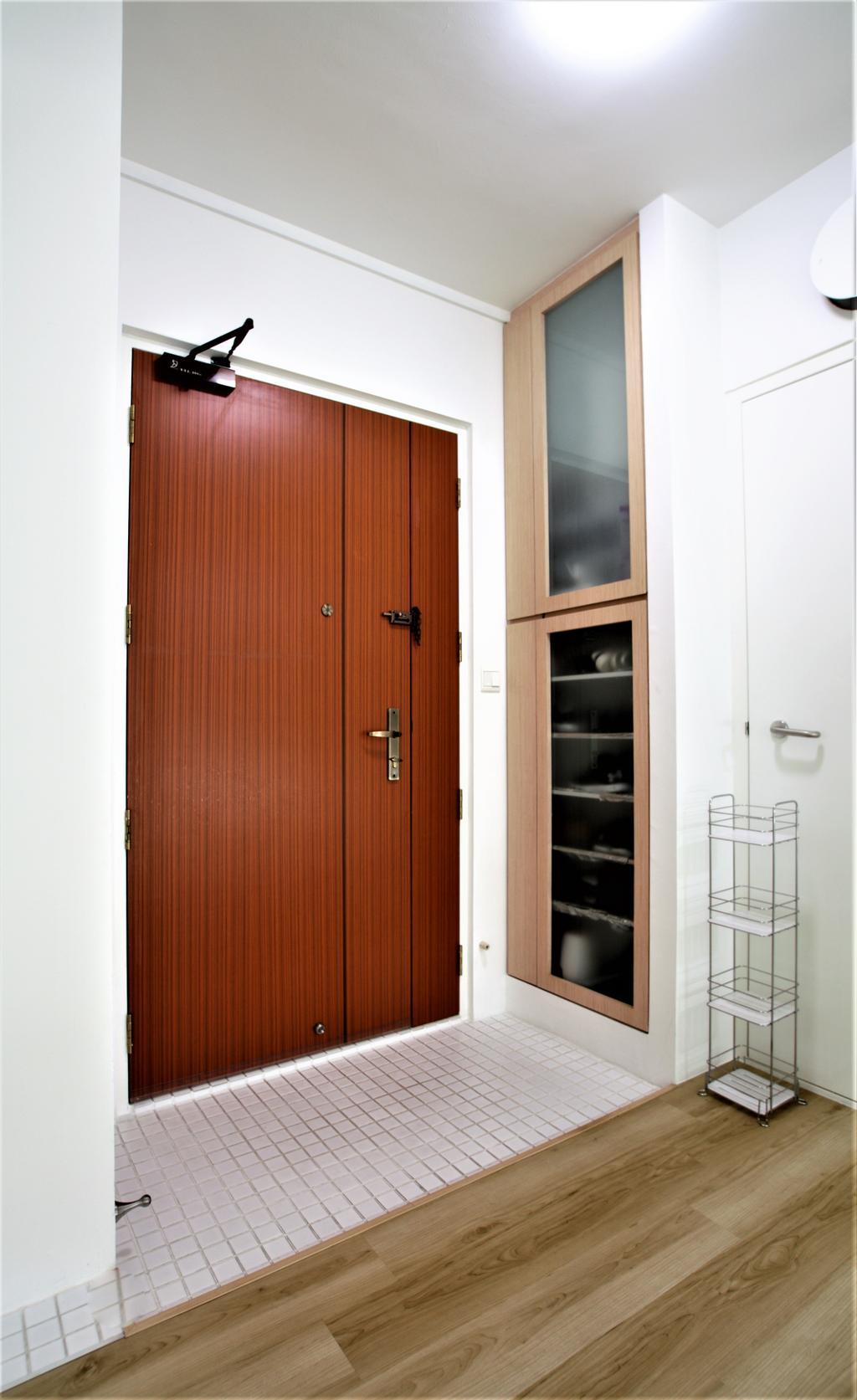HDB, Telok Blangah, Interior Designer, Intrigue-d Design Consultancy, Door, Folding Door, Shelf