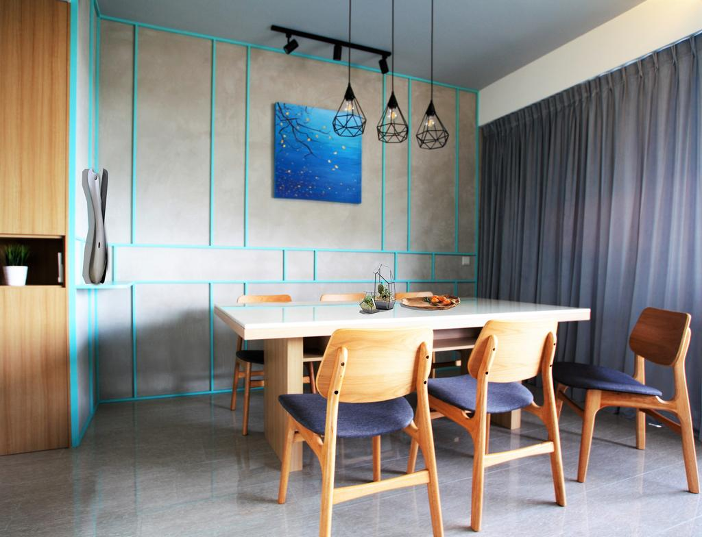 Condo, Punggol, Interior Designer, Intrigue-d Design Consultancy, Chair, Furniture, Dining Room, Indoors, Interior Design, Room, Dining Table, Table