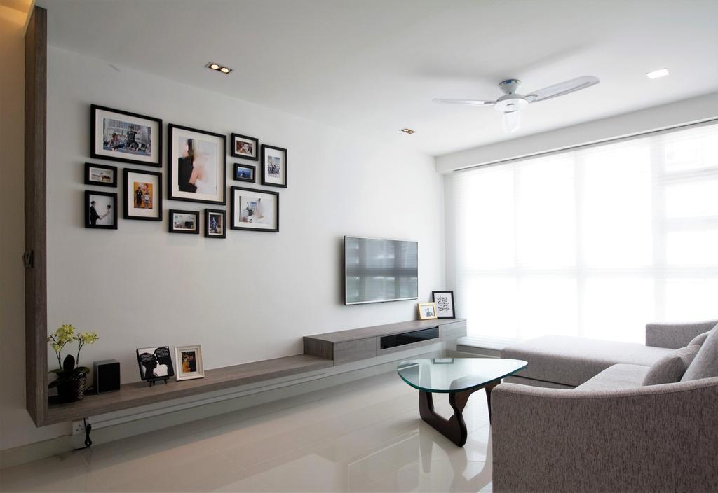 HDB, Punggol, Interior Designer, Intrigue-d Design Consultancy, Dining Table, Furniture, Table, Shelf, Indoors, Interior Design, Chair